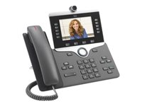 PRODOTTO USATO ALTISSIMA QUALITA'!!! CP-8845-K9-RF - Cisco IP Phone 8845 - IP video phone - digital camera, Bluetooth interface - SIP, SDP - 5 lines - charcoal - refurbished