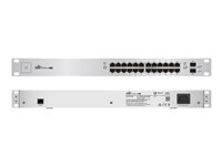 US-24-250W - Ubiquiti UniFi Switch US-24-250W - Switch - Managed - 24 x 10/100/1000 (PoE+) + 2 x Gigabit SFP - rack-mountable - PoE+