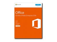 T5D-02840 - Microsoft Office Home and Business 2016 - Box pack - 1 PC - 32/64-bit, medialess, P2 - Win - French - Eurozone