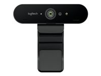 960-001106 - Logitech BRIO 4K Ultra HD webcam - Web camera - colour - 4096 x 2160 - audio - USB