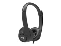 991-000267 - Logitech - Headset - on-ear - wired - USB - black - academic (pack of 5)